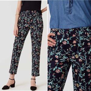 NWT Loft Vine Floral Rivera Crop Pants Julie Fit